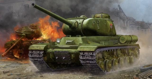 """05587 1/35 ソビエト軍 JS-1重戦車 """"スターリン1"""" ¥9,200(税抜価格)パーツ数:360pcs・商品仕様:プラスチックモデルキット・材質:プラスチック他・パッケージサイズ(cm):41×26×6.5・サイズ:全長 230mm/全幅 100mm・商品説明:第二次世界大戦中、ソビエトがドイツ軍のティーガー1重戦車に対抗すべく生産したJS-1重戦車""""スターリン1""""が登場します。強力な85mm砲と重装甲を備え精鋭部隊を中心に配備されましたが、残念ながら活躍の機会はなく、""""JS-2""""へその座を譲ることになりました。製品は独特な形状を持つ鋳造砲塔や車体形状をスライド金型を使用して再現しています。履帯は実感溢れる組立て式で再現されています。※本製品は輸入品のため発売時期が予告なく変更される場合がございますのでご了承ください。製品はJS-1重戦車 """"スターリン1""""が1両入りです。"""