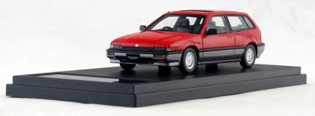 HS142RE 1/43 Honda ACCORD AERO DECK (1985) レッド/ガンメタル