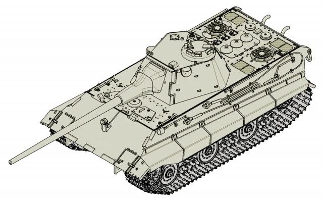 07123 1/72 ドイツ軍 E-50中戦車 ¥2,400(税抜価格)