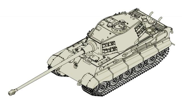 07160 1/72 ドイツ軍 ティーガーⅡ 105mm砲搭載型 ¥2,400(税抜価格)