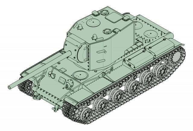 07162 1/72 ソビエト軍 KV-2 107mm砲搭載型 ¥2,400(税抜価格)