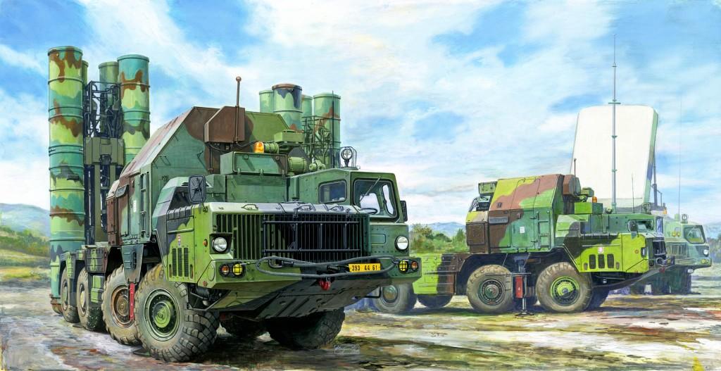 """01038 1/35 ソビエト軍 S-300PMU """"SA-10 グランブル"""" 地対空ミサイルシステム ¥20,800(税抜価格)"""