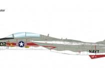 "HA5220 1/72 F-14A トムキャット 第1戦闘飛行隊""ウルフパック 1976"" ¥19,800(税抜価格)"