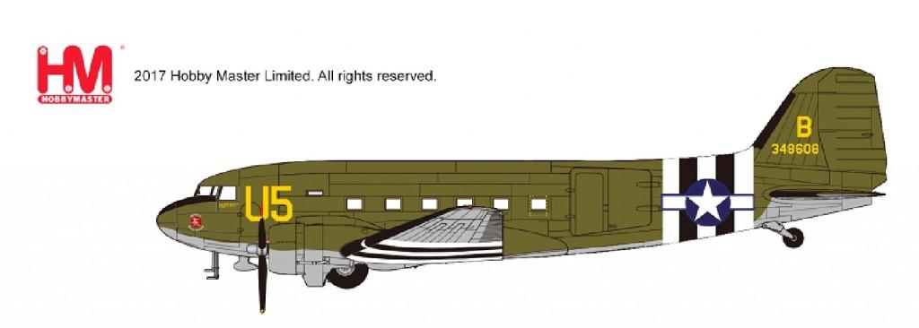 """HL1309 1/200 ダグラス C-47 """"アメリカ陸軍航空隊 43-48608"""" ¥7,800(税抜価格)"""