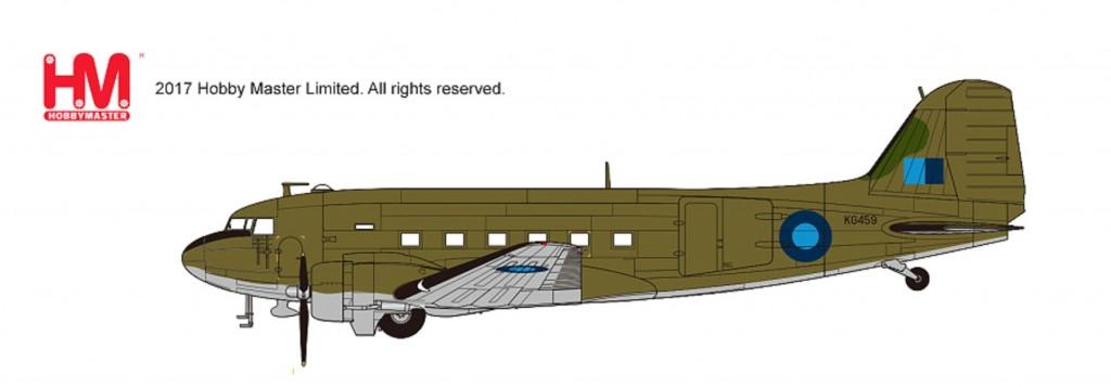 "HL1311 1/200 ダグラス C-47B ""モントゴメリー元帥座乗機"" ¥7,800(税抜価格)"