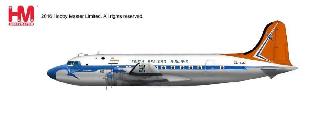 "HL2026 1/200 ダグラス DC-4 ""南アフリカ航空 ZS-AUB"" ¥8,800(税抜価格)"