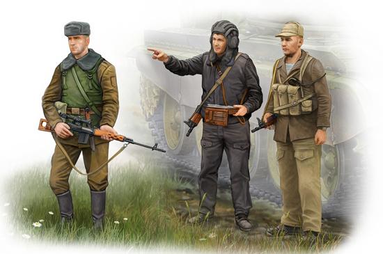 00433 1/35 ソビエト現用歩兵/戦車兵 アフガニスタン紛争 ¥1,800(税抜価格)