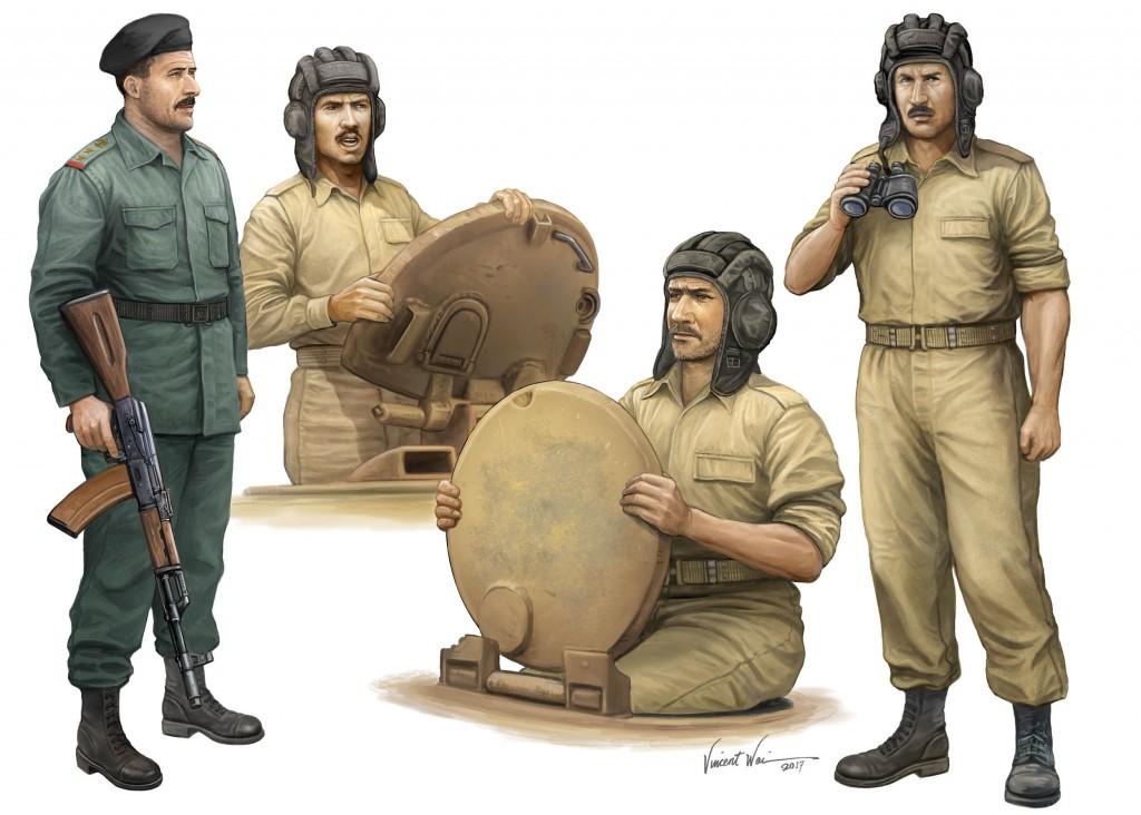 00439 1/35 イラク軍戦車兵4体セット ¥2,200(税抜価格)