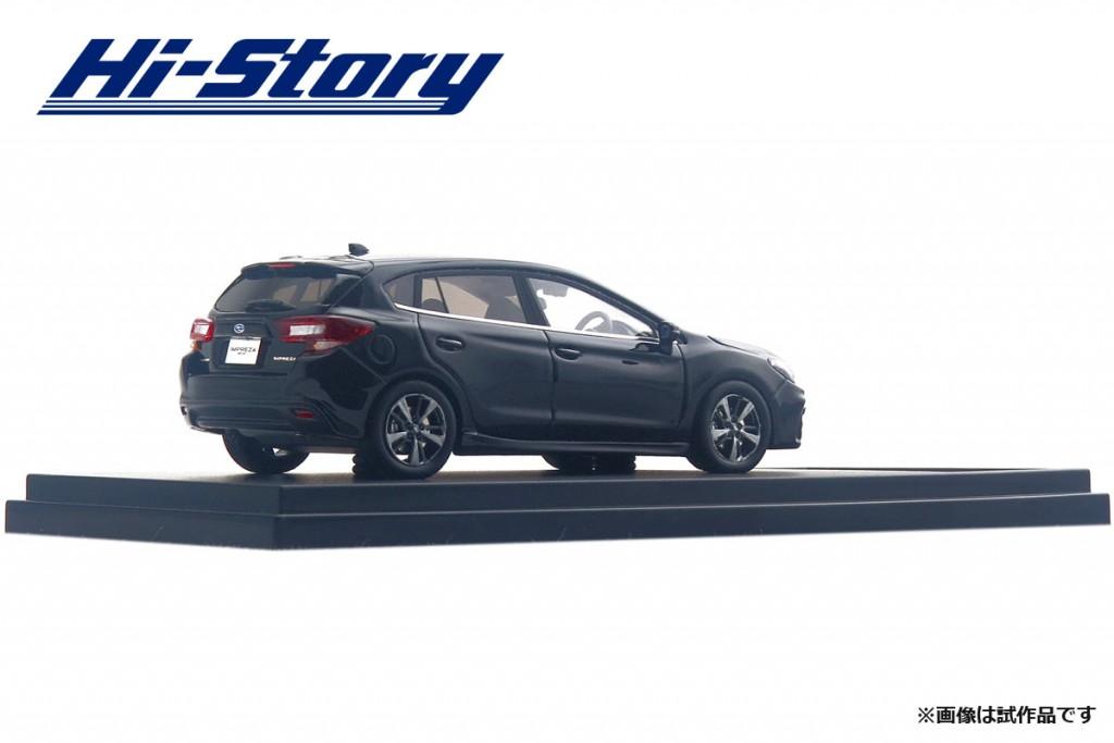 HS190BK 1/43 SUBARU IMPREZA SPORT 2.0i-S EyeSight (2016) クリスタルブラック・シリカ ¥9,200(税抜価格)