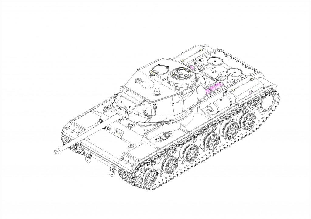 07127 1/72 ソビエト軍 KV-85重戦車 ¥2,400(税抜価格)