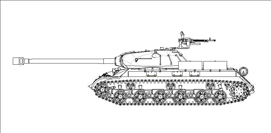 07163 1/72 ソビエト軍 JS-3 60口径122mm砲搭載型 ¥2,400(税抜価格)