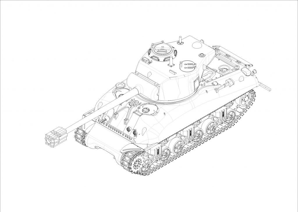 07169 1/72 フランス軍 M4中戦車 ルヴァロリゼ ¥2,400(税抜価格)