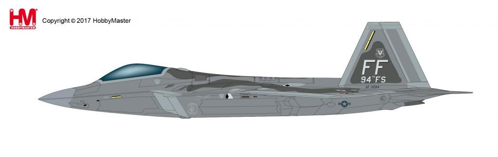"HA2818 1/72 F-22 ラプター ""第94戦闘飛行隊"" ¥13,800(税抜価格)"