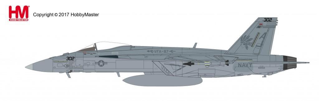 """HA5105 1/72 F/A-18E スーパーホーネット""""VFA-87 ゴールデン・ウォリアーズ"""" ¥14,800(税抜価格)"""