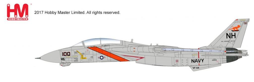 """HA5216 1/72 F-14A トムキャット第114戦闘飛行隊""""アードバークス"""" ¥18,800(税抜価格)"""