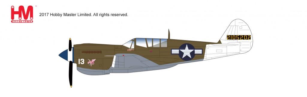"HA5504 1/72 カーチス P-40N ""リタ/オーキッド13"" ¥7,800(税抜価格)"