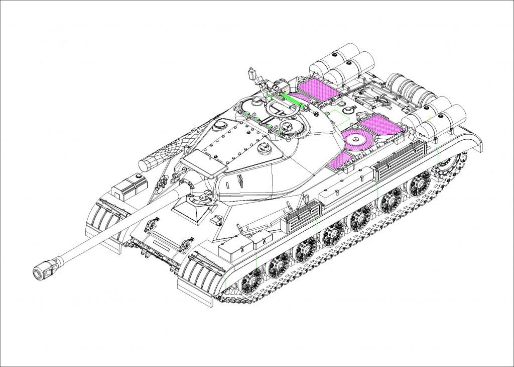 """07143 1/72 ソビエト軍 JS-4重戦車 """"スターリン4"""" ¥2,400(税抜価格)"""