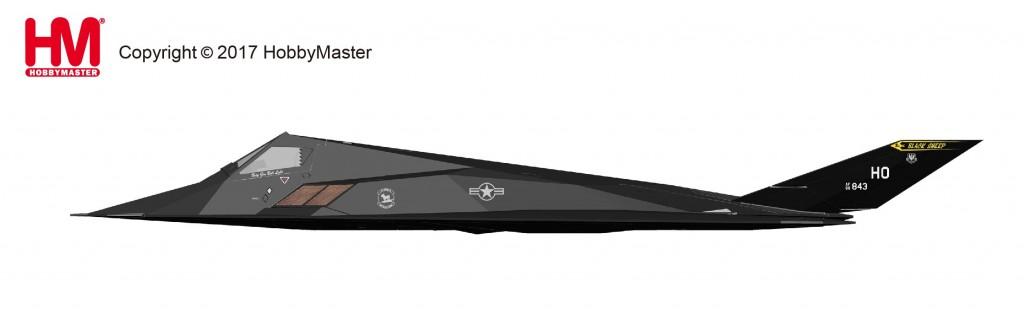 "HA5802 1/72 F-117 ナイトホーク ""星条旗塗装"" ¥14,800(税抜価格)"