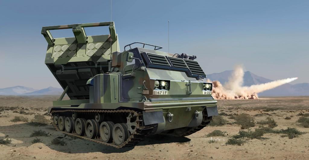 01049 1/35 アメリカ陸軍 M270/A1 MLRS 多連装ロケットシステム ¥14,800(税抜価格)