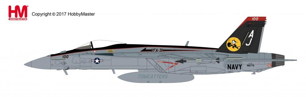 """HA5106 1/72 F/A-18E スーパーホーネット""""VFA-31 トムキャッターズ"""" ¥13,800(税抜価格)"""