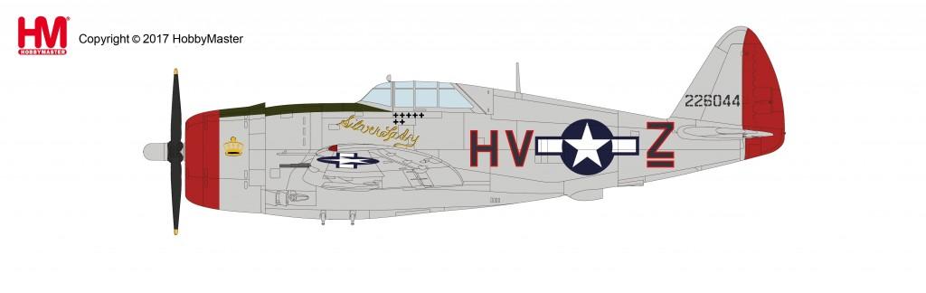 """HA8456 1/48 P-47D サンダーボルト """"シルバーレディ"""" ¥10,800(税抜価格)"""