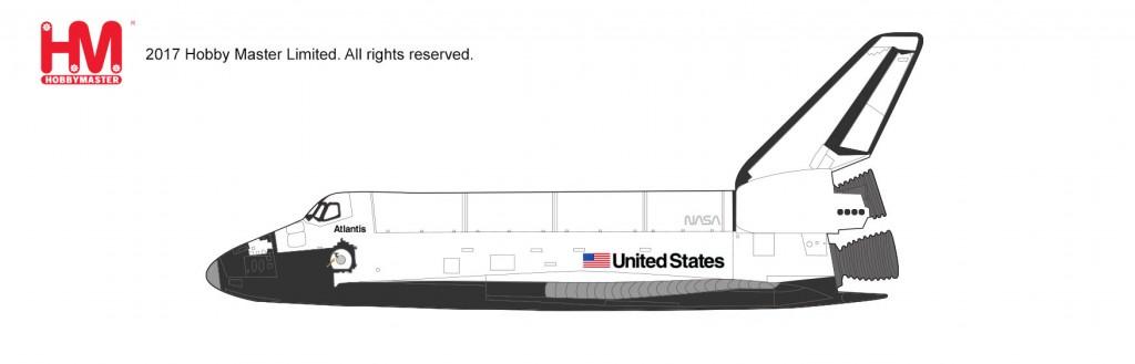 """HL1401 1/200 スペースシャトル・オービタ """"アトランティス ¥10,800(税抜価格)"""