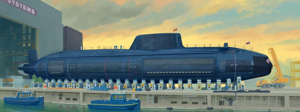 05909 1/144イギリス海軍 原子力潜水艦 HMS アスチュート ¥7,600(税抜価格)