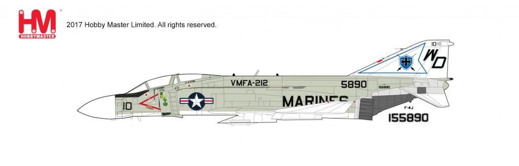 """HA1997 1/72 F-4J ファントムII """"VMFA-212"""" ¥11,800(税抜価格)"""