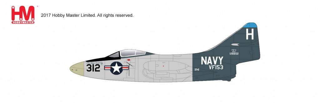 """HA7208 1/48 F9F-5 パンサー """"ブルー・テール・フライ"""" ¥12,800(税抜価格)"""