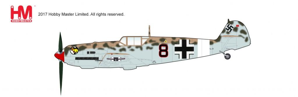 """HA8703 1/48 Bf-109E-7/Trop メッサーシュミット """"フランツ・エレス"""" ¥10,800(税抜価格)"""
