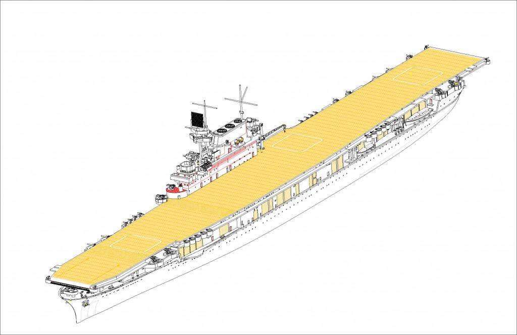 06708 1/700 アメリカ海軍 航空母艦 CV-6 エンタープライズ ¥6,800(税抜価格)