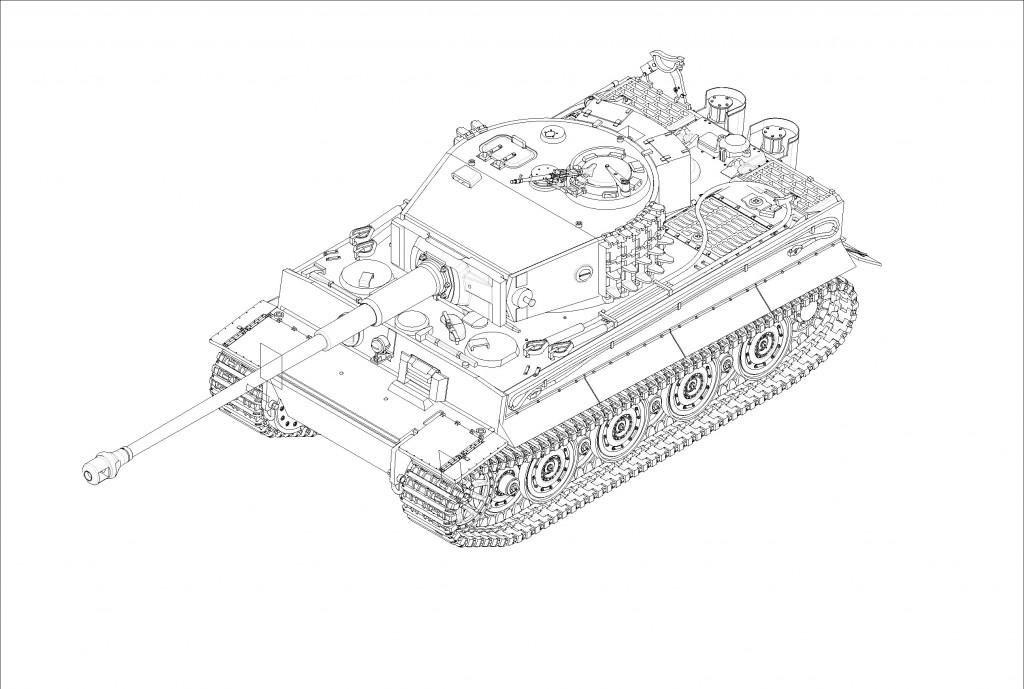 07164 1/72 ドイツ軍 ティーガーⅠ 71口径88mm砲搭載型 ¥2,400(税抜価格)