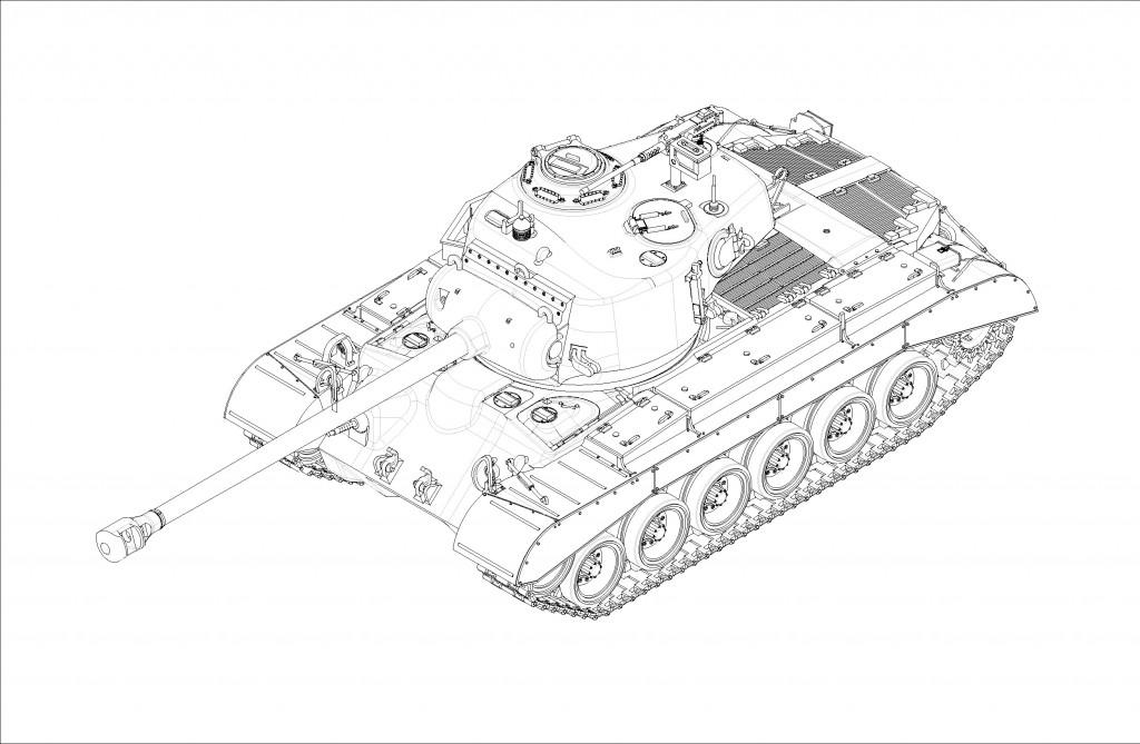 07170 1/72 アメリカ軍 M26 スーパーパーシング ¥2,400(税抜価格)