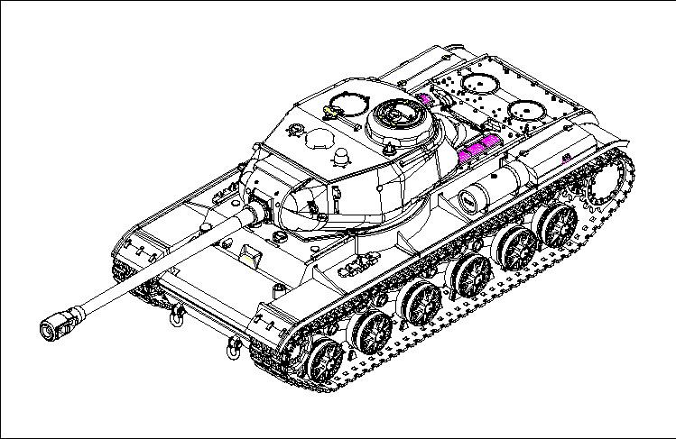 07128 1/72 ソビエト軍 KV-122重戦車¥2,400(税抜価格)