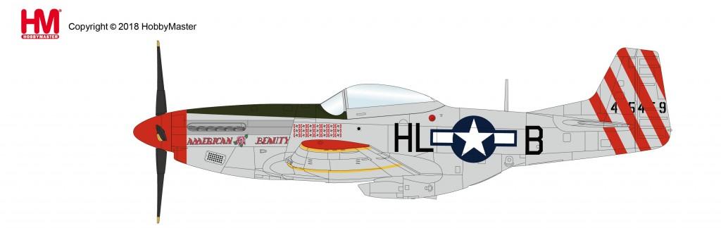 """HA7739 1/48 P-51Dマスタング """"アメリカン・ビューティー"""" ¥10,800(税抜価格)"""