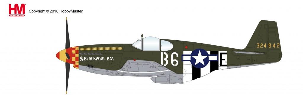"""HA8512 1/48 P-51B マスタング """"ブラックプール・バット"""" ¥10,800(税抜価格)"""