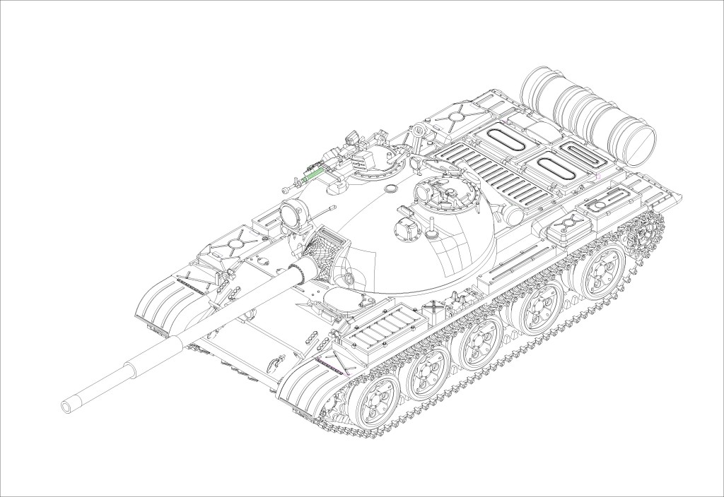 07147 1/72 ソビエト軍 T-62 主力戦車 1972年型 ¥2,400(税抜価格)