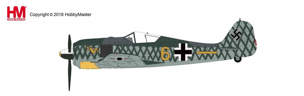 "HA7423 1/48 Fw190 A-4 フォッケウルフ ""ヴォルフガング・レオンハルト中尉機"" ¥10,800(税抜価格)"