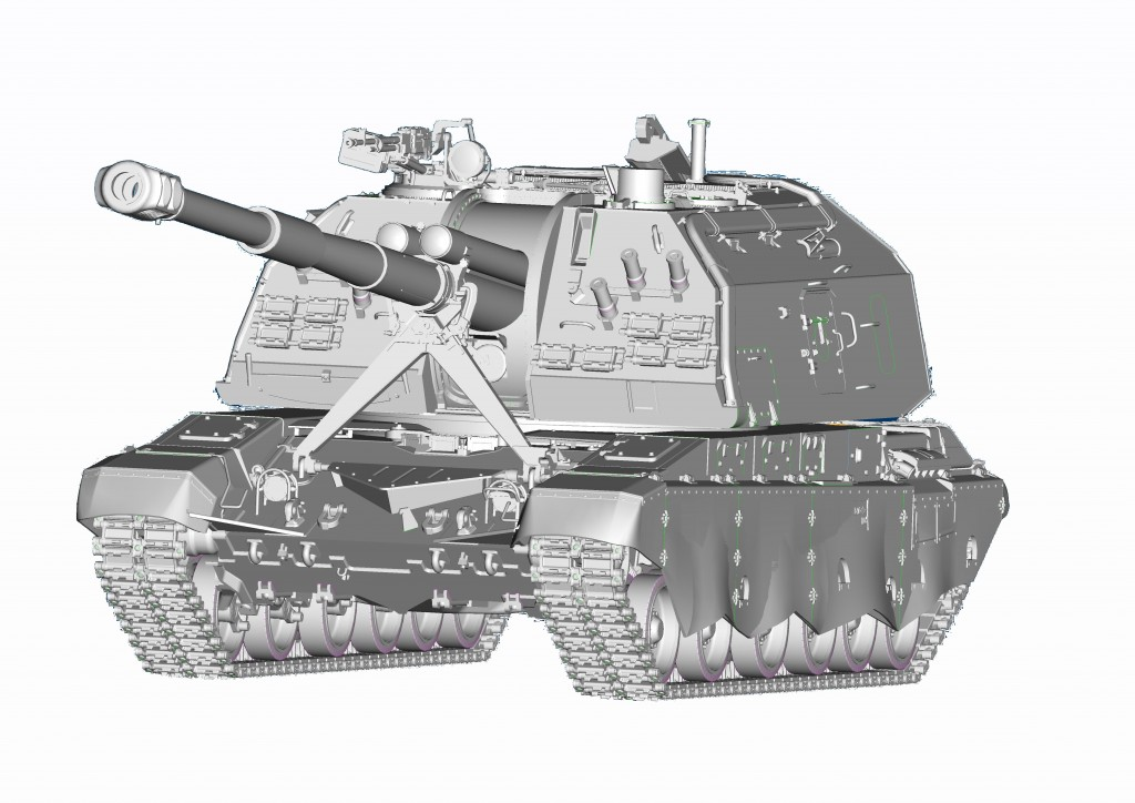 09534 1/35 2S19M2 152mm自走榴弾砲 ムスタ-S ¥10,800(税抜価格)
