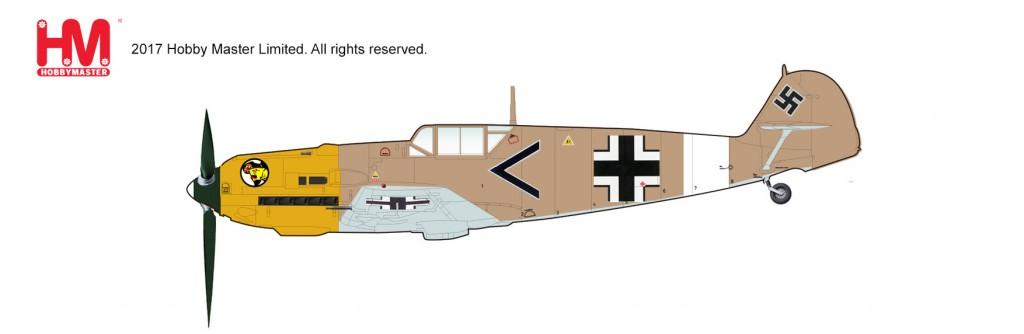 """HA8704 1/48 Bf-109E-4 メッサーシュミット """"ルドヴィヒ・フランツィスケット"""" ¥10,800(税抜価格)"""