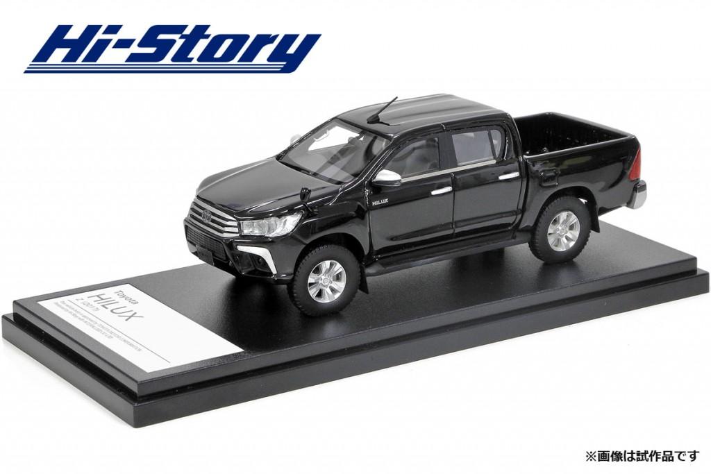 HS204BK 1/43 Toyota HILUX Z (2017) アティチュードブラックマイカ ¥9,800(税抜価格)