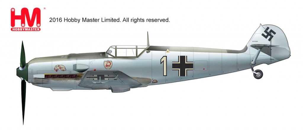 "HA8705 1/48 Bf-109E-3 メッサーシュミット ""オットー・バートラム"" ¥10,800(税抜価格)"