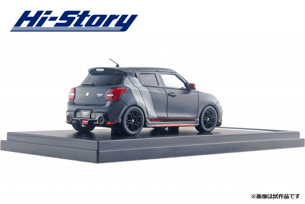 HS208SP 1/43 SUZUKI SWIFT SPORTS AUTO SALON VERSION (2018) マットブラック ¥9,200(税抜価格)