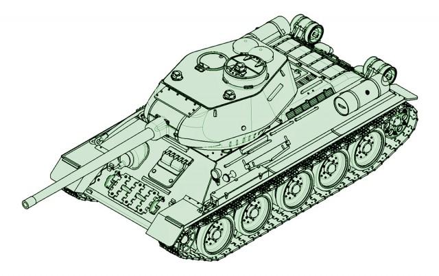 07167 1/72 ソビエト軍 T-34/85 ¥2,400(税抜価格)